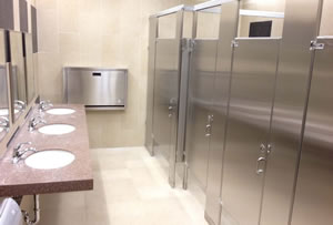 sustainability in restroom and locker room renovations