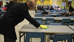 outsourced school janitorial services