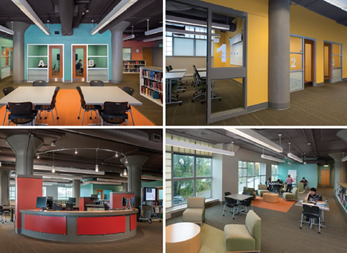 University of Southern Maine: The Learning Commons interior images