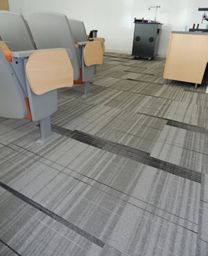 Campus lecture hall flooring