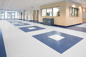 nora rubber flooring at Syracuse University