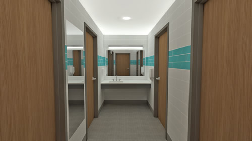 residence hall restrooms