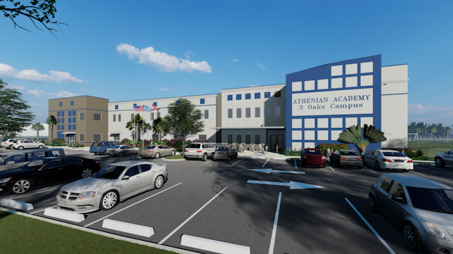 The new two-story, 68,000-square-foot building is estimated to cost $15 million. The school, designed and constructed by LAI Group, is expected to be finished by summer 2020.