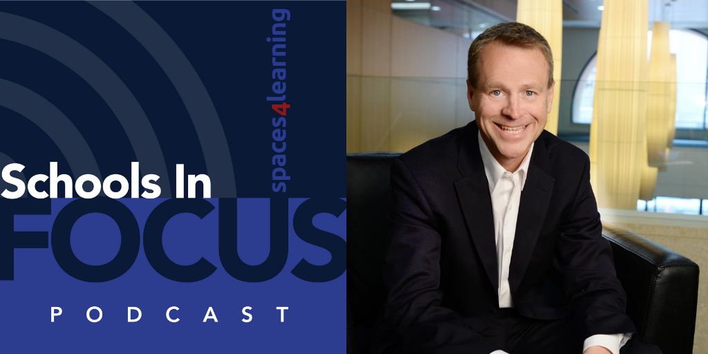 Schools In Focus Podcast logo and Stu Rothenberger's headshot