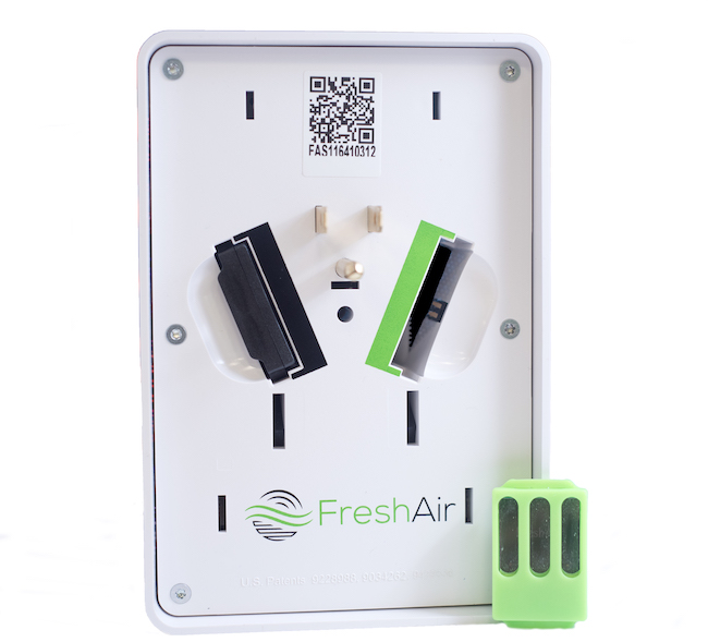 The FreshAir1 Smoking Detection System detects tobacco and marijuana smoking.