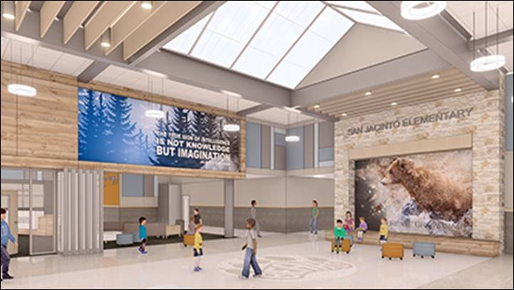 Renderings of the new San Jacinto Elementary School Image Credit: PBK