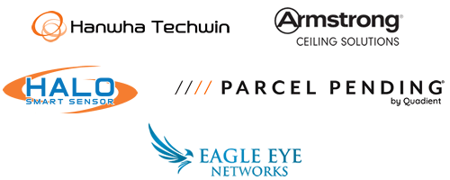 Hanwha Techwin, Armstrong Ceiling Solutions, HALO Smart Sensors, Parcel Pending, Eagle Eye Networks