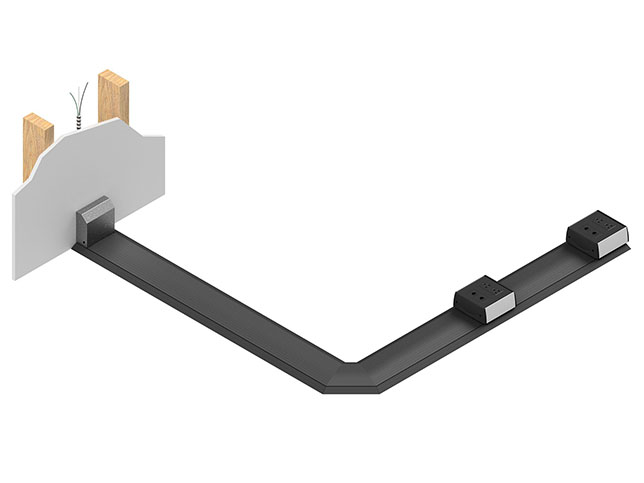 An elbow kit enables the installer to make 45 or 90-degree angles that minimize the bend radius of wire.