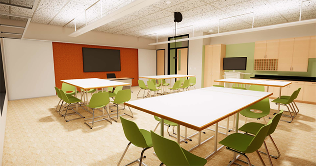 Kellog Middle School's rebuild will include learning suites that promote greater student collaboration.
