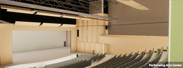 Madison High School will feature a state-of-the-art performing arts facility.