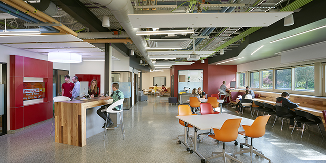 Groton Junior-Senior High School's former dingy basement has transformed into a brightly lit $4.8 million STEAM lab and shared-learning space.