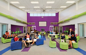 Flexible classroom space for K-12 collaboration