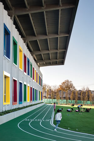 School Exterior: Track and Field