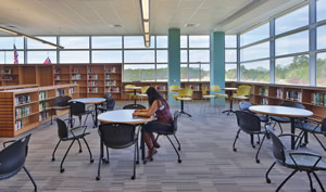 Daylighting in library / media center