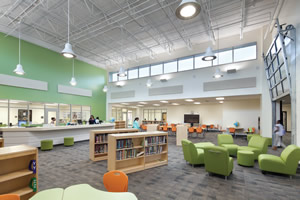 Spacious and bright school space