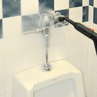 steam cleaning urinals