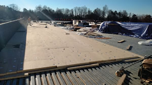 installing a watertight roof on a school