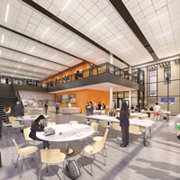 school commons area