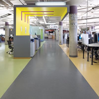 McMaster University rubber flooring