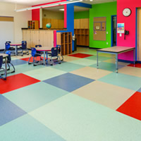 rubber flooring in elementary school