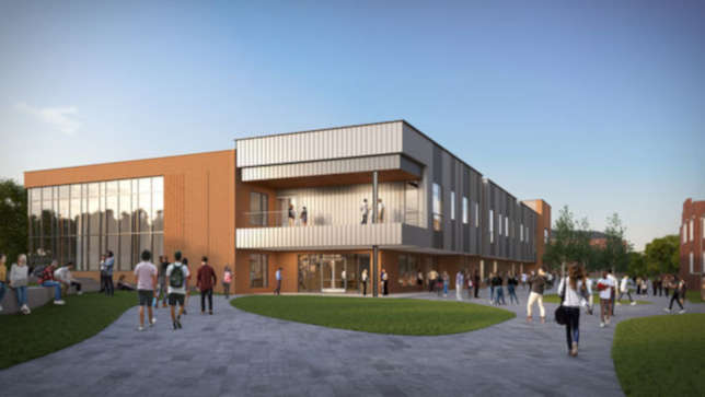 rendering of $58 Million New Campus Construction in teh Works for Residential STEM High School
