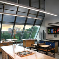 Draper custom motorized shade system