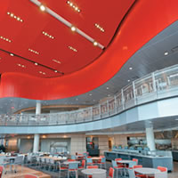Ceiling Provides Aesthetics and Acoustics