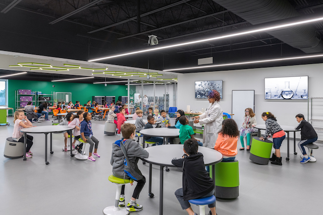 The Berkner STEM Exploration Center features flexible and adaptable spaces.