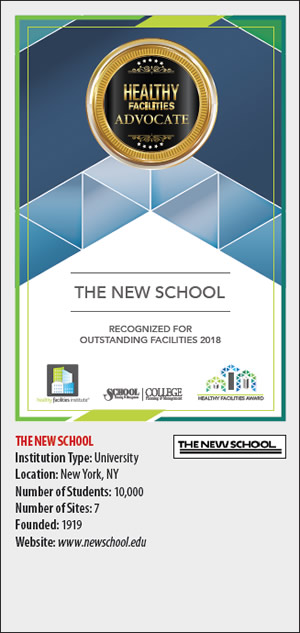 The New School Healthy Facilities Advocate
