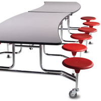 Mobile Folding Cafeteria Tables